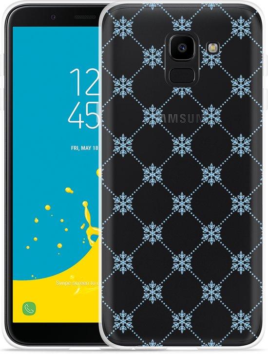 Galaxy J6 Hoesje Snowflake Pattern
