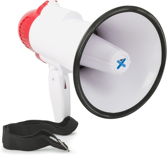 Vonyx MEG020 megafoon 20W met opnamefunctie en sirene