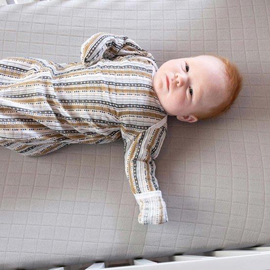 Lodger Baby slaapzak - Hopper Newborn Stripe Xandu - Okergeel - 0-4 mnd
