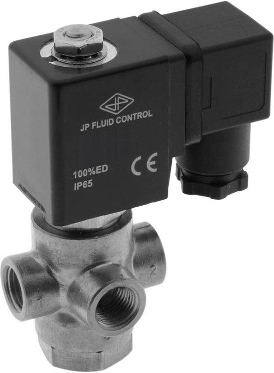 Magneetventiel TP-DC 1/4'' 3/2 Weg DI RVS FKM 0-3.5bar 24V AC - TP-DC014S040F-024AC