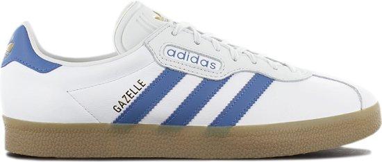 adidas Originals Gazelle Super CQ2798 Heren Sneakers Sportschoenen Schoenen  Leer Wit - Maat EU 46 2/3 UK 11.5