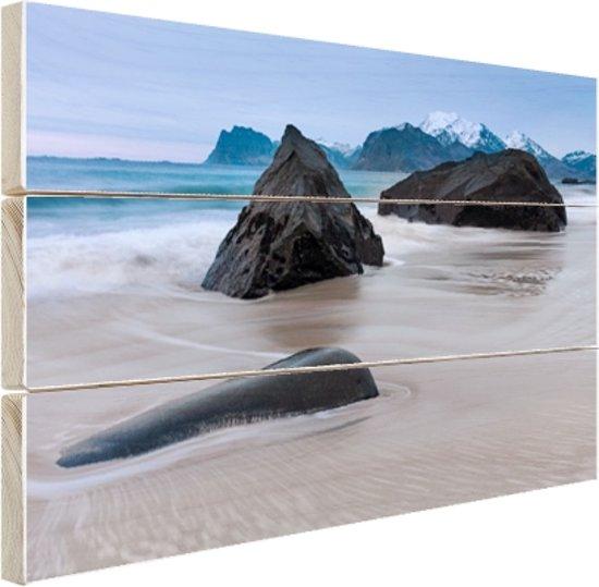 FotoCadeau.nl - Zandstrand Hout 30x20 cm - Foto print op Hout (Wanddecoratie)