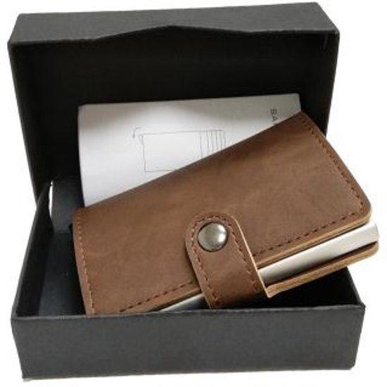 7df3fb1870a Hoge kwaliteit - Creditcardhouder / Pashouder / kaarthouder - Anti skim  (donkerbruin)