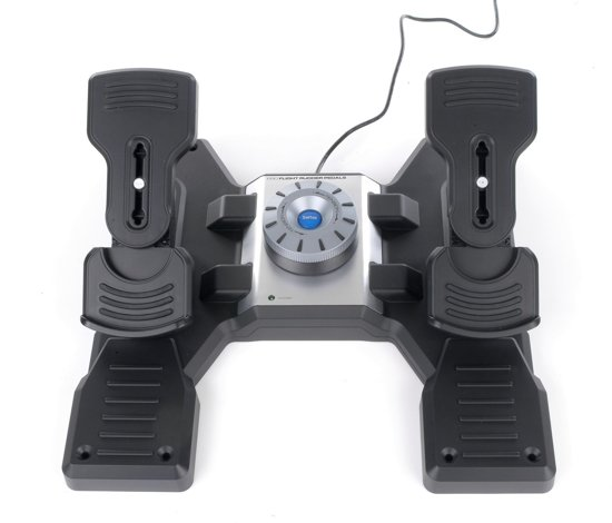 Logitech G Saitek Pro Flight Rudder Pedalen Zwart PC