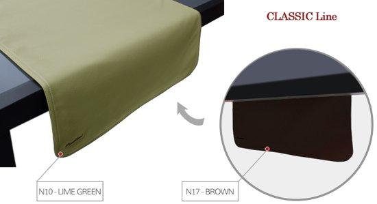 Pavelinni tafelloper Classic 45x120cm Brown/Lime Green