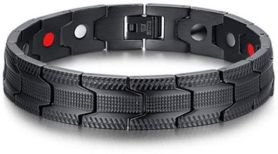 9d4a4421149 bol.com | Mendes heren armband Edelstaal Magneten Grid Black
