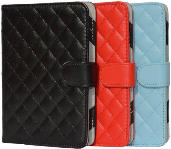 Designer Book Cover Case Hoes voor Sony Prs T3s met ruitmotief , rood , merk i12Cover in Herwen
