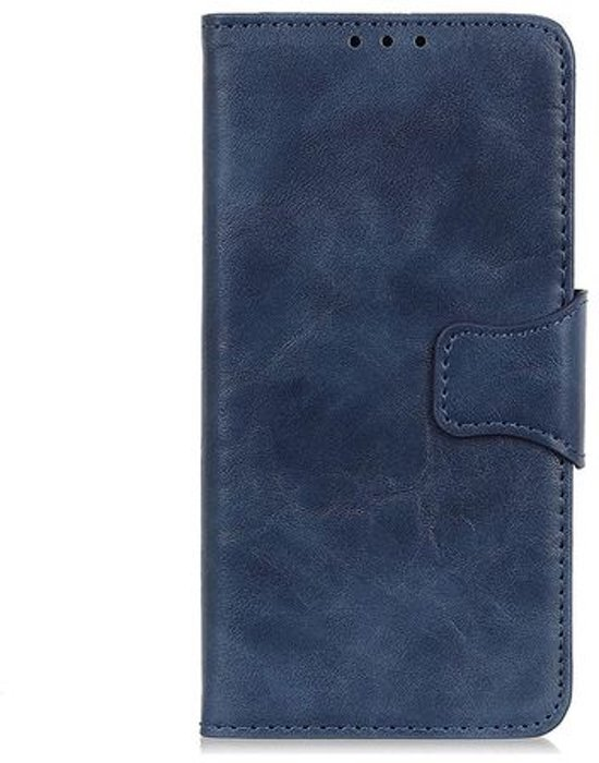 Shop4 - Samsung Galaxy A40 Hoesje - Wallet Case Cabello Echt Leer Donker Blauw