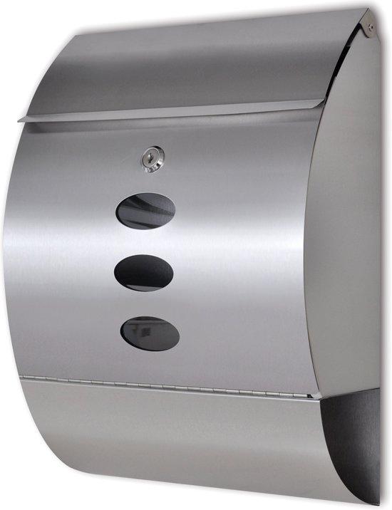 vidaXL Brievenbus roestvrij staal