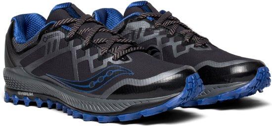 Saucony Peregrine 8 GTX  Sportschoenen - Maat 45 - Mannen - zwart/blauw