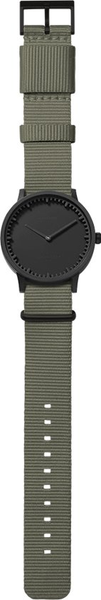 Tube watch T40 black / grey nato strap