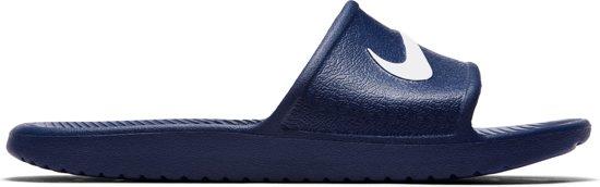 59041611380 bol.com   Nike Kawa Slippers - Maat 49.5 - Mannen - blauw/wit