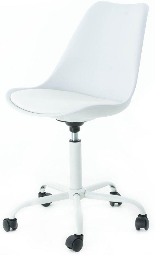 Witte Eetkamerstoel Op Wieltjes.Bol Com Essence Kontar Bureaustoel Met Wielen Wit