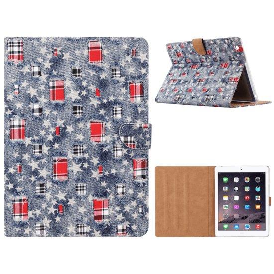 Spijkerstof Boekmodel Hoesje iPad 2 / 3 / 4
