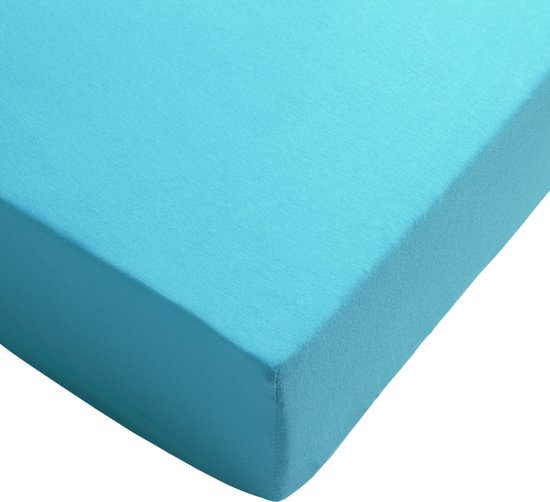 Day Dream hoeslaken - jersey - 90 x 200 - Aqua