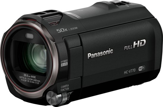 Panasonic HC-V770 12,76 MP MOS BSI Handcamcorder Zwart Full HD
