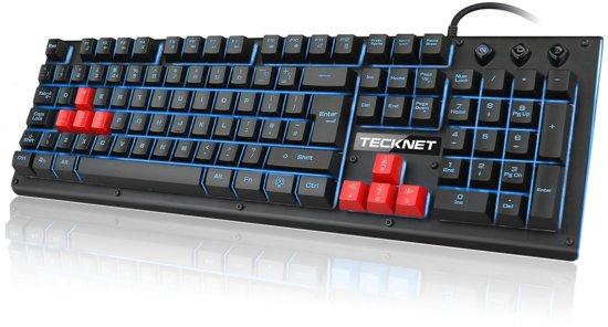 bol.com   Tecknet Pro Gaming Toetsenbord - Bedraad / USB - Met LED ...