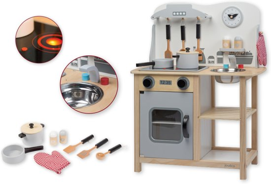 Jouéco Houten keuken met accessoires