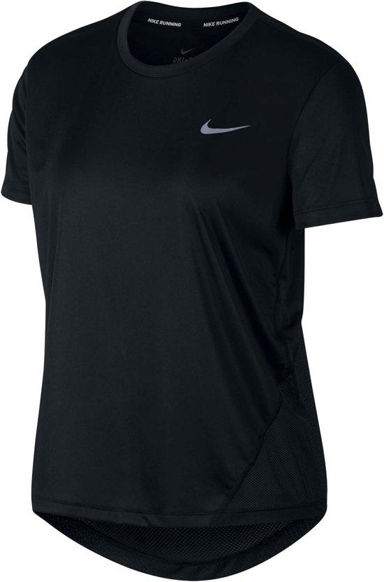Nike Miler Top SS Sporttop Dames - Zwart
