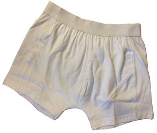 3 boxershorts jongens wit katoen maat 122/128