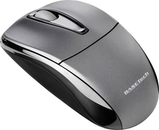 Basetech M105GX Draadloze muis Optisch Zwart, Grijs
