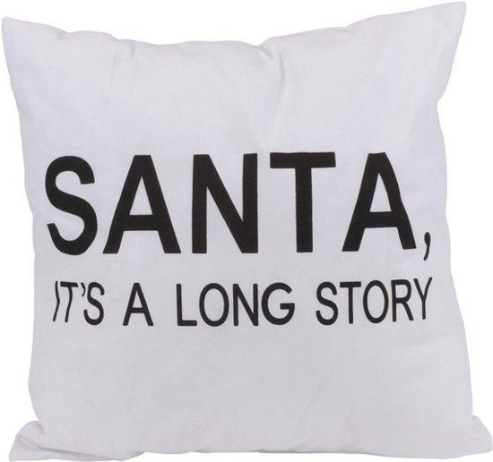 Sierkussen met tekst Santa