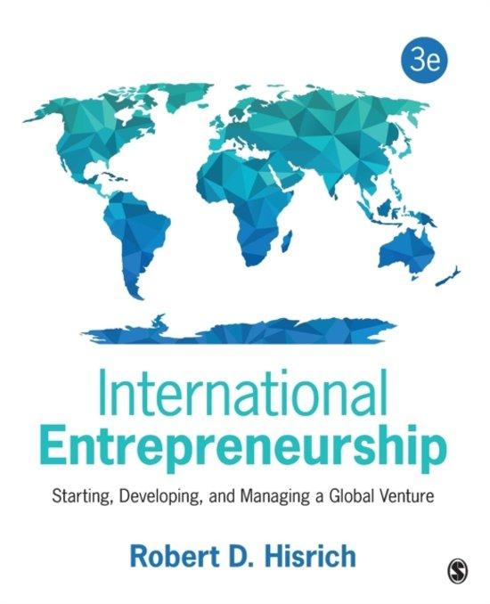 Boek cover International Entrepreneurship van Robert D. Hisrich (Paperback)