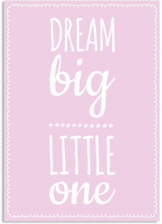 bol | kinderkamer poster - babykamer - decoratie - dream big, Deco ideeën