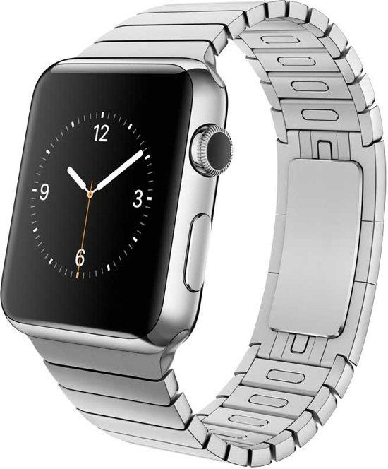 Schakelarmband met Vlindersluiting voor Apple Watch - Zilver - 42mm