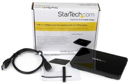 StarTech.com USB 3.1 (10 Gbps) gereedschapsloze behuizing voor 2,5 inch SATA-schijven