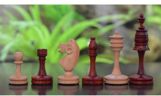 Afbeelding van het spel 'Kasteel' serie, handgemaakt uit Rozenhout en Buxushout, Koningshoogte 86 mm