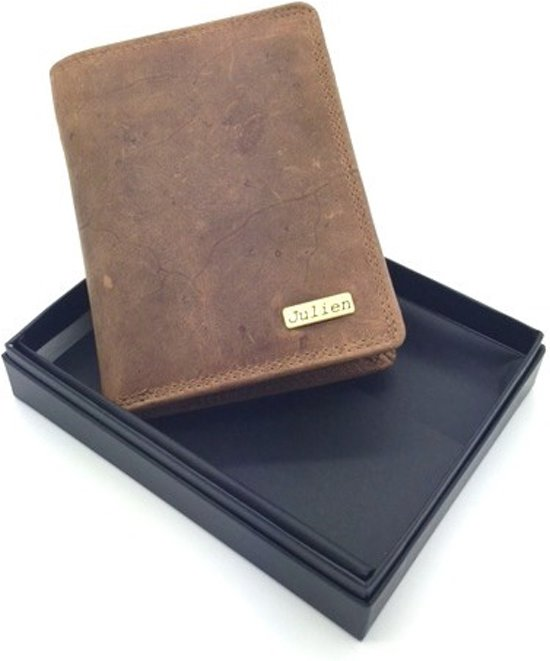 8f8ed0b296a Julien wallet - 00601 - portemonnee - 100% hunter leer - gratis gadget
