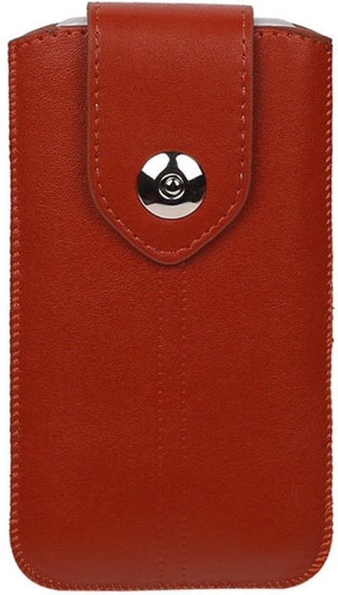 BestCases.nl Huawei Enjoy 6s - Universele Luxe Leder look insteekhoes/pouch - Bruin Medium