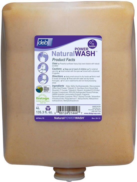 DEB natural power wash navulling 4 liter