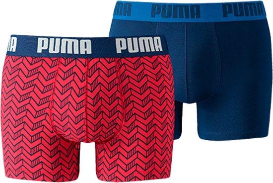 3d13161b0b2 bol.com | PUMA Basic Graphic Print Boxershort -2-pack - Blauw/Rood ...
