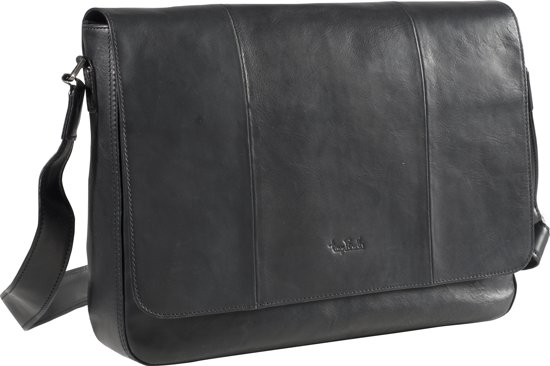 13 Zwart PerottiMessenger Bag Tony Laptop Inch cuTl1FJK3