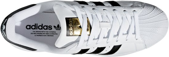 zwart Unisex Maat 40 Wit Superstar Sneakers goud Foundation Adidas t4n1XHq