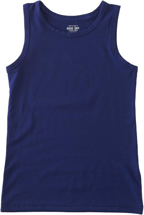 Little Label Jongens Onderhemd - Blauw - Maat 92 / 18M- 2Y