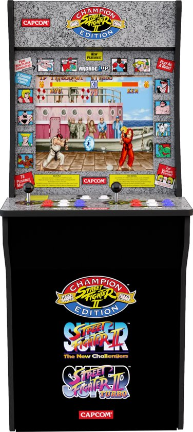 Arcade1up Street Fighter 2 Retro Arcadekast Speelkast Spelletjeskast