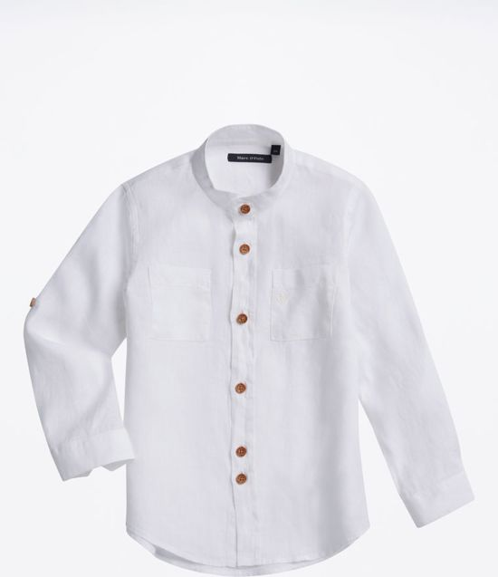 Overhemd Op Maat.Bol Com Marc O Polo Linnen Overhemd Maat 140