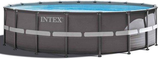 Intex Ultra Frame Opzetzwembad Met Accessoires 549 X 132 Cm Grijs