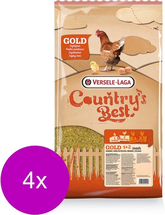 Versele-Laga Country`s Best Gold 1&2 Mash Opgroeimeel - Kippenvoer - 4 x 5 kg Van 0 Weken