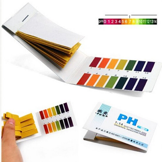 PH teststrips / Lakmoes papier 80 strips PH 1-14