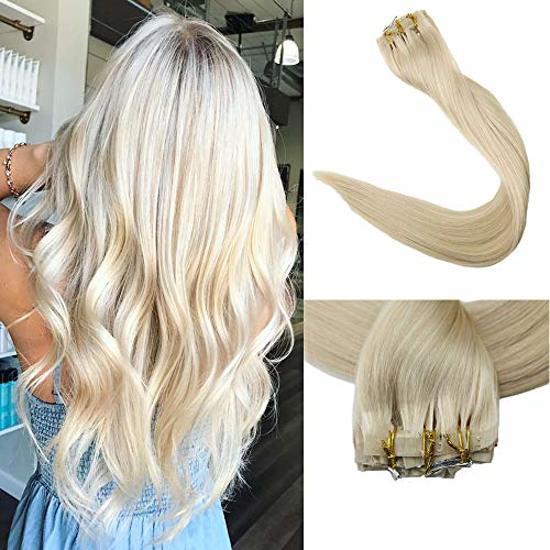 weltweit verkauft großhandel online Bestbewertet authentisch Clip In Hair Extensions 60cm ECHT HAAR dik&vol tot in de punten klA613