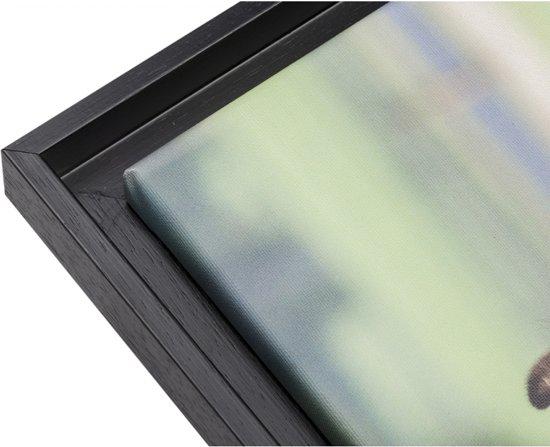 Baklijst Zwart voor Canvas 100 x 75 cm - Canvaslijst - Art. nr. 23-17 - 0,5 cm ruimte