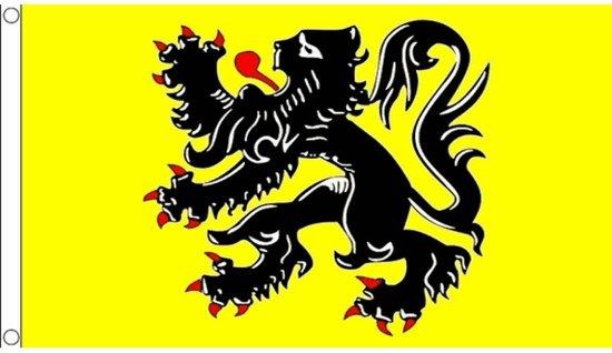 Vlaamse gemeenschap vlag 90 x 150 cm