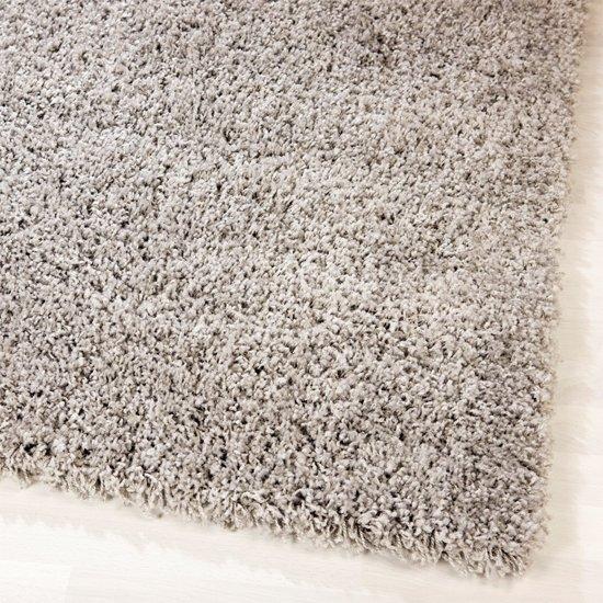 Tapeso shaggy modern tapijt grijs 200x290 - Tapijt idee voor volwassen kamer ...