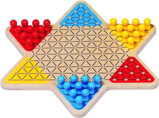Afbeelding van het spel Bordspel: HALMA diam.28cm, hout