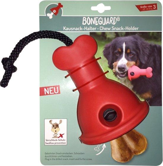 Boneguard kluifhouder maat 3 - hond - van 38 tot 65 kg - rood