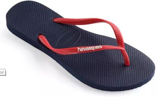 beste service meest populair betaalbare prijs bol.com | Havaianas Slim logo blauw rood slippers uni - Maat ...